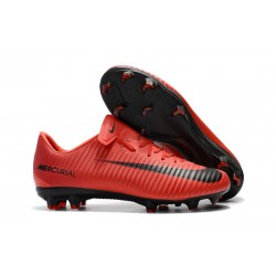Nike Mercurial Vapor 11 FG Men Football Cleats - Red Black