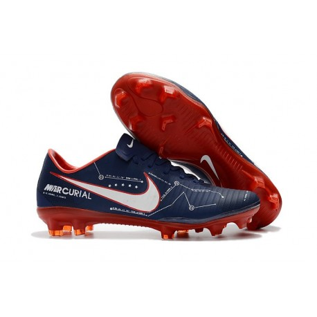 Nike Mercurial Vapor 11 FG Men Football Cleats - Dark Blue Red