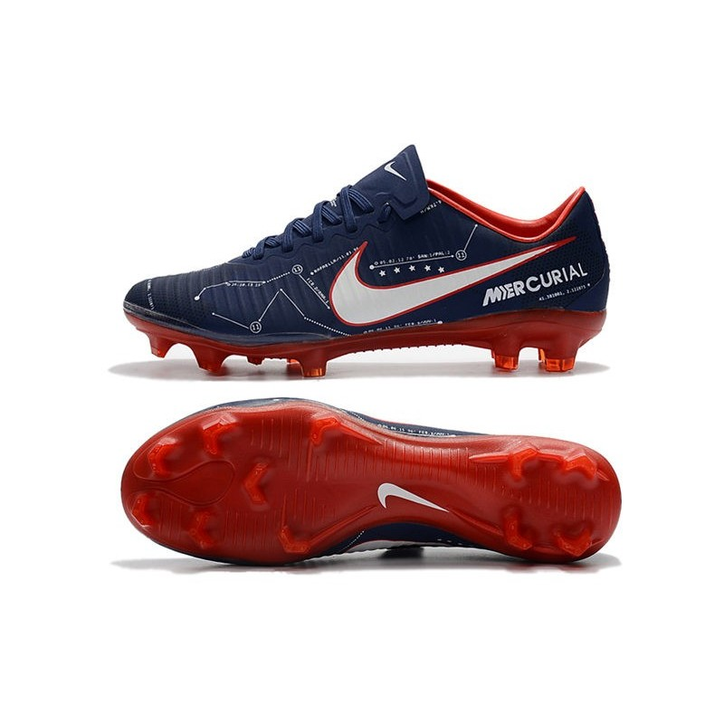 Nike Mercurial Vapor 11 Fg Men Football Cleats Dark Blue Red