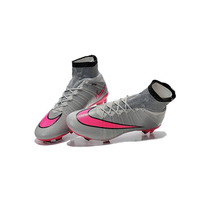 reputable site 1d2b6 d3f11 Nike Mercurial Superfly FG CR7 Ronaldo Football Boot Wolf Grey Hyper Pink
