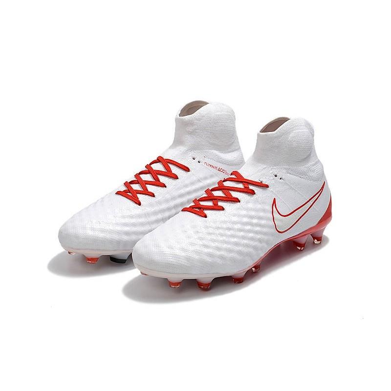 premium selection cc5b0 d4900 Nike Magista Obra II FG Men Soccer Boots White Red Maximize. Previous. Next