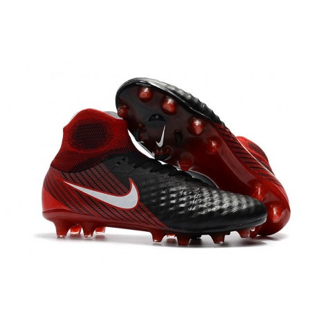 Nike Magista Obra II FG Men Soccer Boots Black Crimson