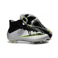 Nike Mercurial Superfly FG CR7 Ronaldo Football Boot Silver Black