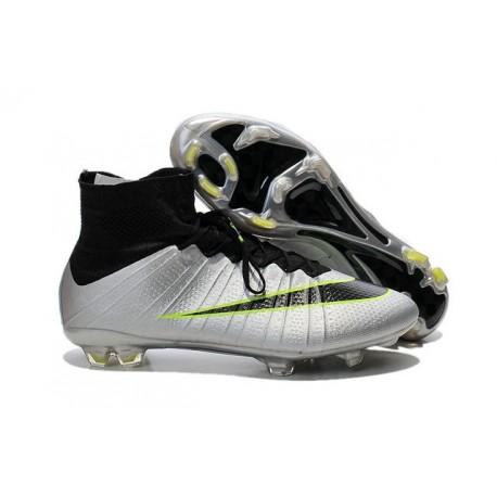 Nike Mercurial Superfly FG CR7 Ronaldo Football Boot Silver Black