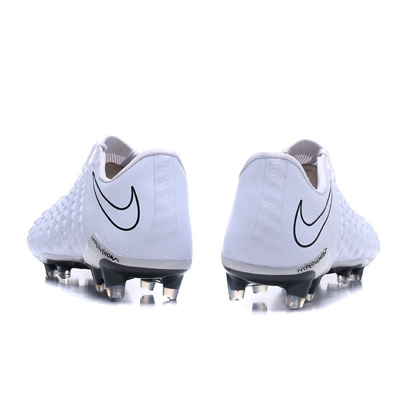 reputable site 45a0b ff115 New Nike Hypervenom Phantom III FG Football Boots All White