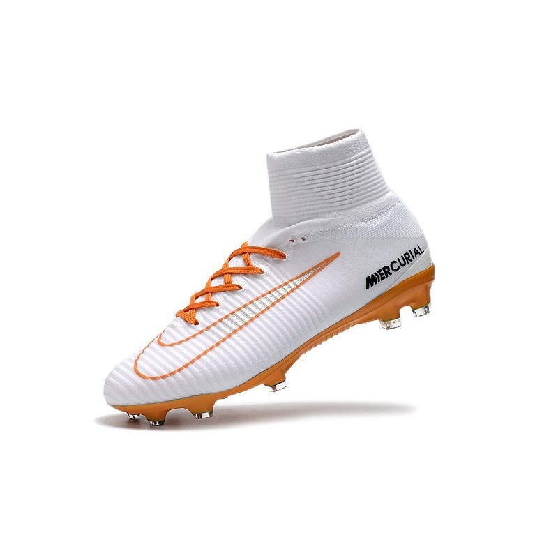new style f194b 015e3 Nike Mercurial Superfly 5 FG ACC Dynamic Fit Boot - White Orange