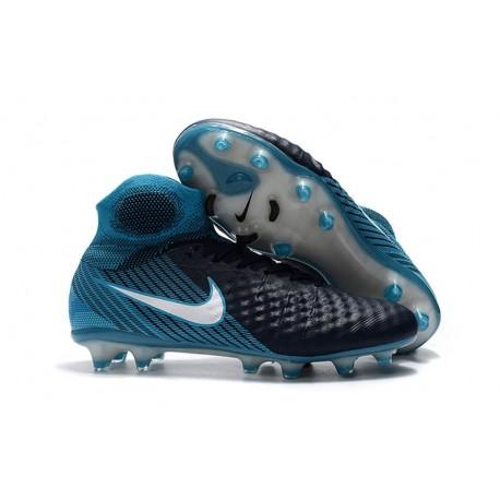 Nike Magista Obra II FG Men Soccer Boots Black Blue
