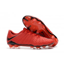 New Nike Hypervenom Phantom III FG Football Boots Red Black