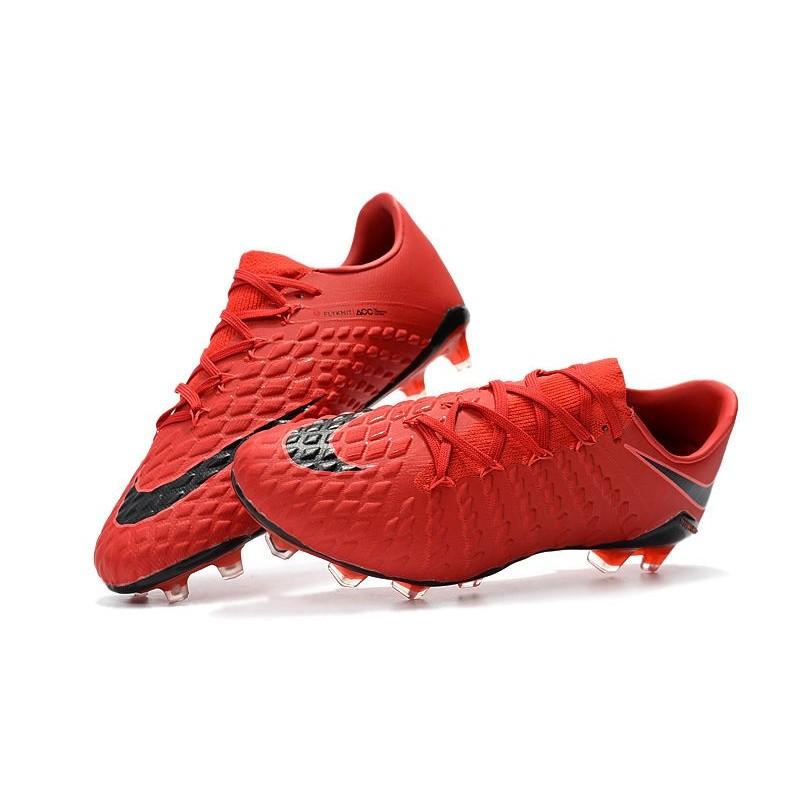 timeless design f148e 1c3cd New Nike Hypervenom Phantom III FG Football Boots Red Black