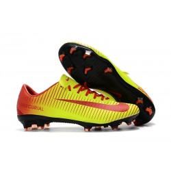 Nike Mercurial Vapor 11 FG Men Football Cleats - Yellow Red