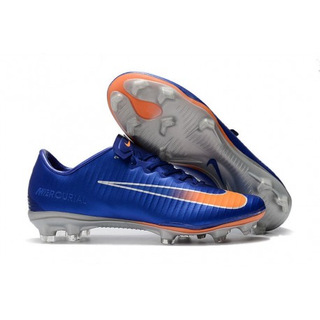 Nike Mercurial Vapor 11 FG Men Football Cleats - Blue Orange