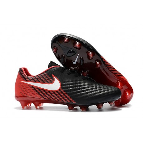 New 2017 Nike Magista Opus II FG ACC Soccer Boots Black Red