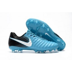 Nike Tiempo Legend VII FG K-leather Soccer Cleats Blue White