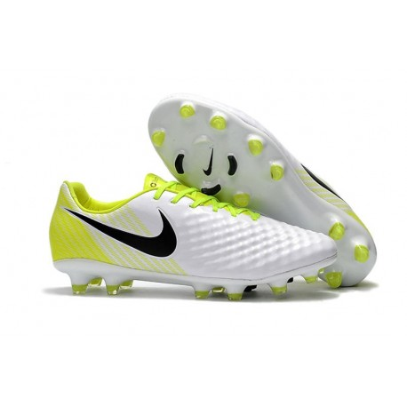 Nike Magista Opus 2 FG Football Cleats - White Black