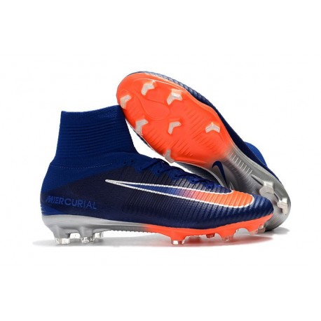 Nike Mercurial Superfly 5 FG ACC Dynamic Fit Boot - Blue Orange