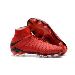 Nike Hypervenom Phantom III DF FG Cleats Red Black