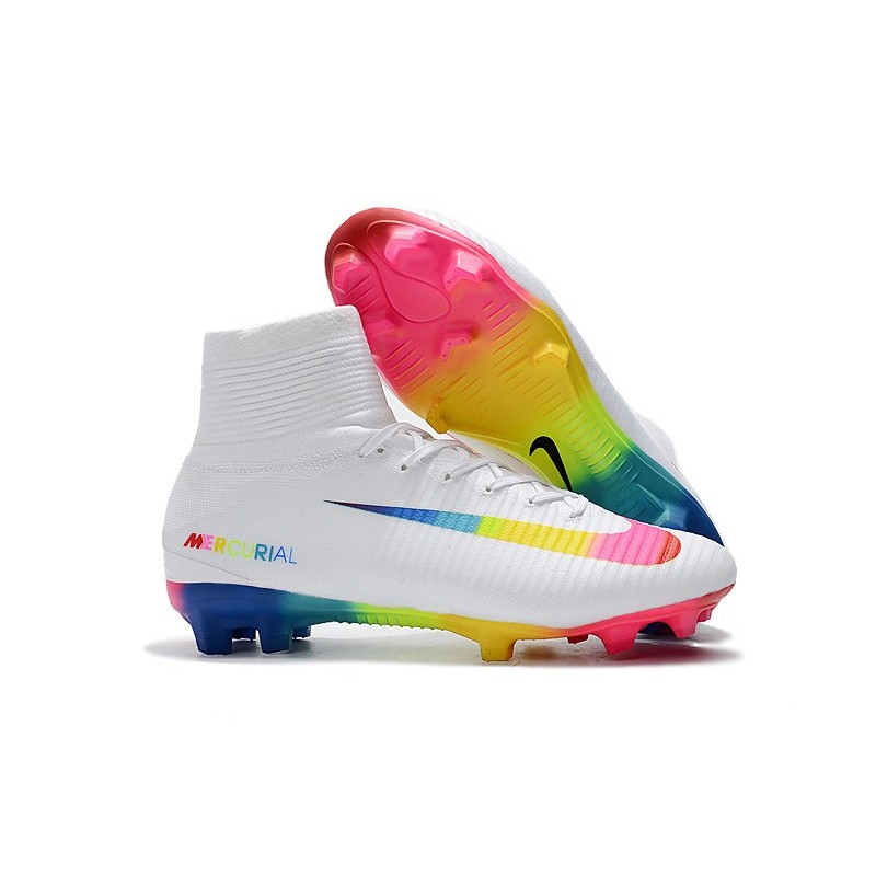 white mercurial boots