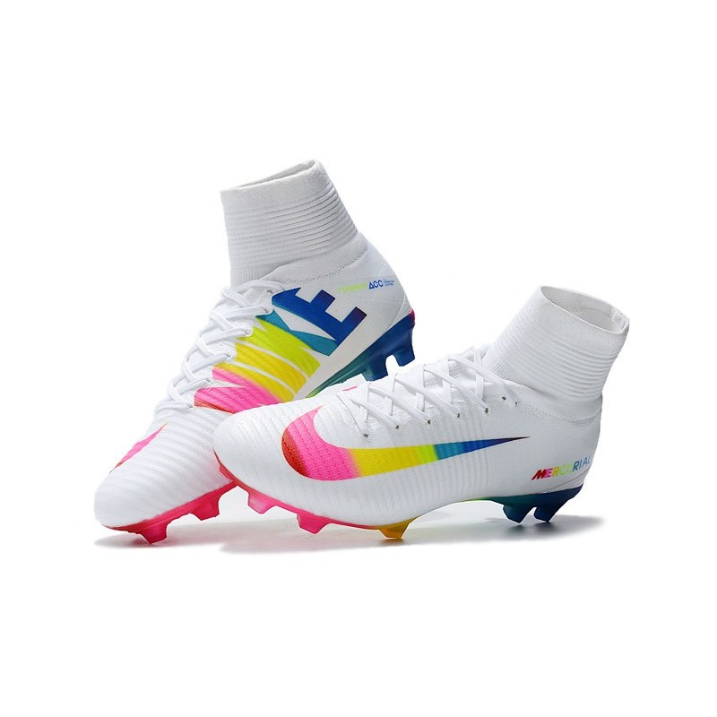 185cc3fb4 Nike Mercurial Superfly 5 FG ACC Dynamic Fit Boot - White Multi-color  Maximize. Previous. Next