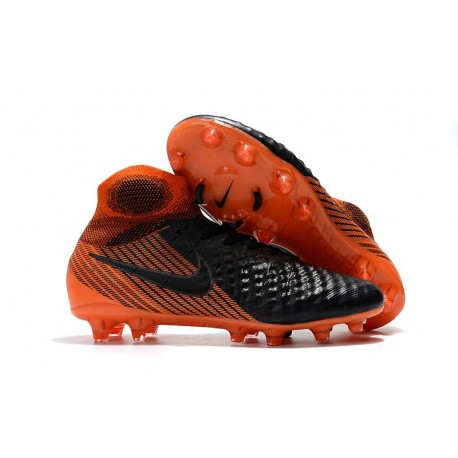 Nike Magista Obra II FG Men Soccer Boots Black Orange