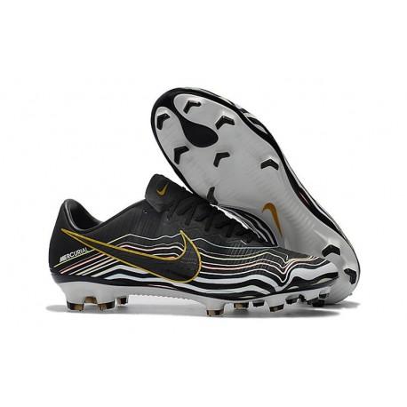 New Nike Mercurial Vapor XI FG Soccer Boots Black Golden