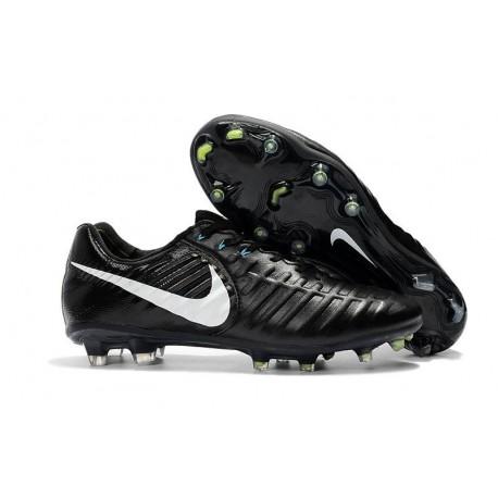 New Nike Tiempo Legend VII FG Kangaroo Boots - Black White
