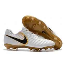 Nike Tiempo R10 FG Kangaroo Leather Soccer Cleats White Gold