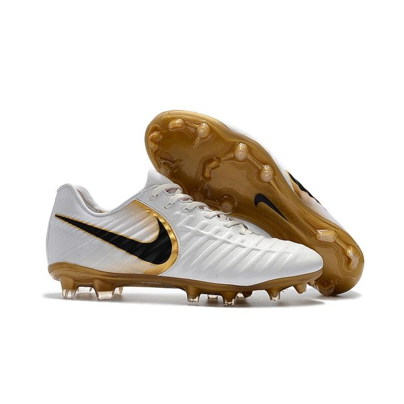 online store 4fd9c 6fa11 Nike Tiempo R10 FG Kangaroo Leather Soccer Cleats White Gold