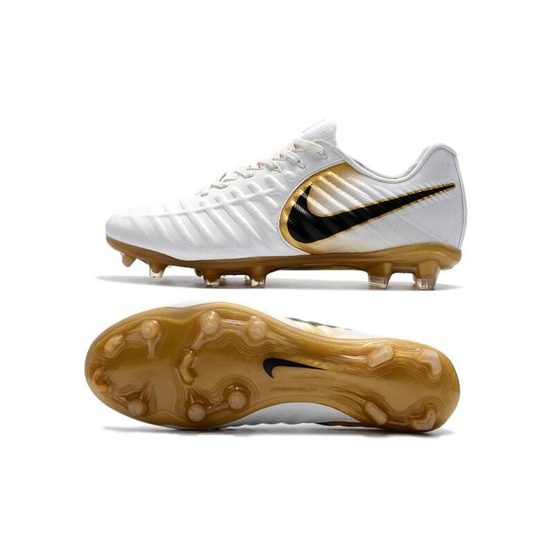 online store a1af1 df1b5 Nike Tiempo R10 FG Kangaroo Leather Soccer Cleats White Gold