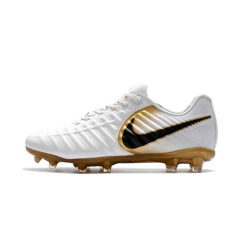 online store bed97 193f2 Nike Tiempo R10 FG Kangaroo Leather Soccer Cleats White Gold