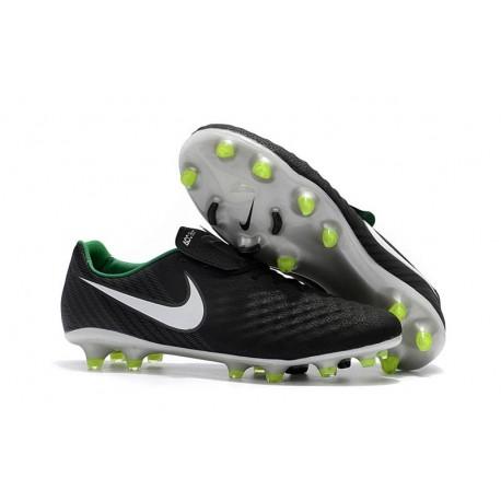 Nike Magista Opus 2 FG Football Cleats - Black White