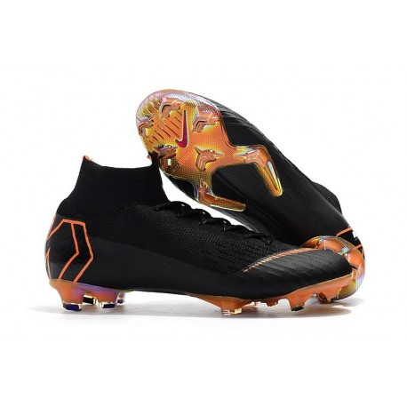 9e1e712f3 Nike Mercurial Superfly 6 Elite FG Soccer Cleats Black Orange