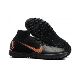 Nike MercurialX Superfly 360 Elite TF Turf Soccer Shoe Black Orange