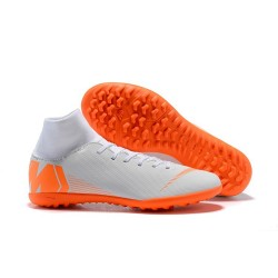 Nike MercurialX Superfly 360 Elite TF Turf Soccer Shoe White Orange