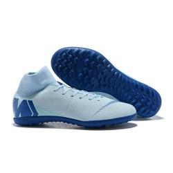 Nike MercurialX Superfly 360 Elite TF Turf Soccer Shoe White Blue