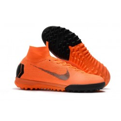 Nike MercurialX Superfly 360 Elite TF Turf Soccer Shoe Orange Black
