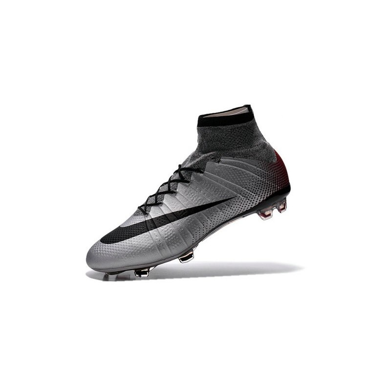 d2f4ec9df08a7 Top 2016 Nike Mercurial Superfly FG Soccer Shoes Mercurial Superfly CR7  Quinhentos Grey Black Red