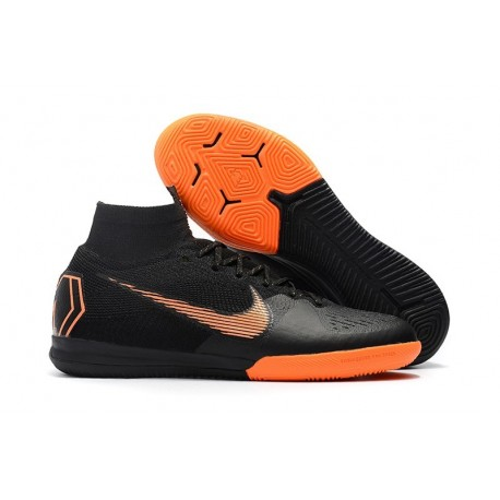 Nike Mercurial SuperflyX VI Elite IC Indoor Futsal - Black Orange