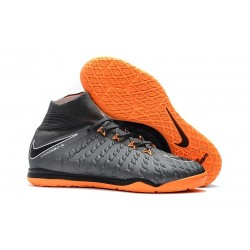 Nike HypervenomX Proximo II DF IC Soccer Shoes - Wolf Grey Orange