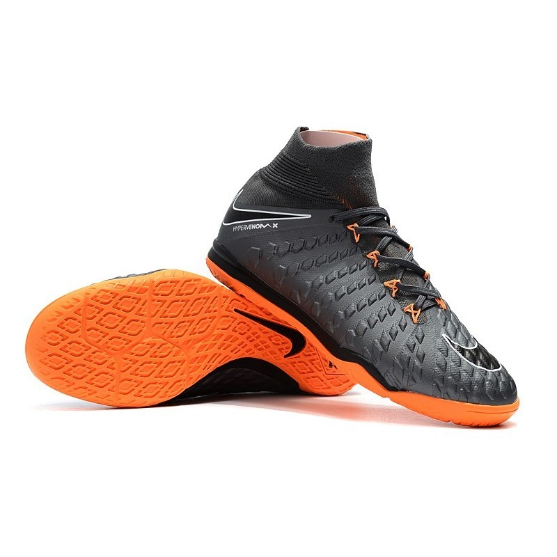 3a3bc641942 Nike HypervenomX Proximo II DF IC Soccer Shoes - Wolf Grey Orange Maximize.  Previous. Next