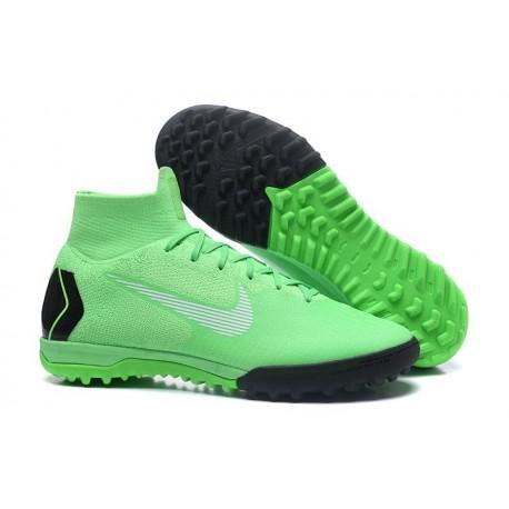 Nike Mercurial Superfly VI Elite TF Football Boot - Green Black