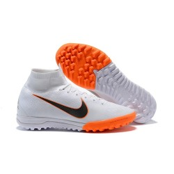 Nike Mercurial Superfly VI Elite TF Football Boot - White Orange Black