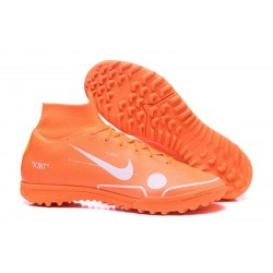Nike Mercurial Superfly VI Elite TF Football Boot - Orange White