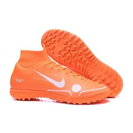 Nike Mercurial Superfly VI Elite TF Football Boot - Orange White