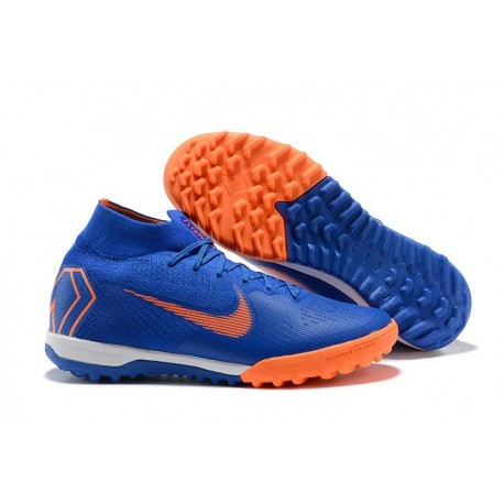 Nike Mercurial Superfly VI Elite TF Football Boot - Blue Orange