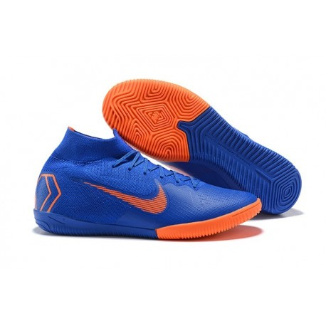 Nike Mercurial SuperflyX VI Elite IC Indoor Futsal - Blue Orange