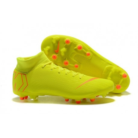 458242662fed Nike Mercurial Superfly 6 Elite AG-Pro Soccer Cleats Yellow Orange