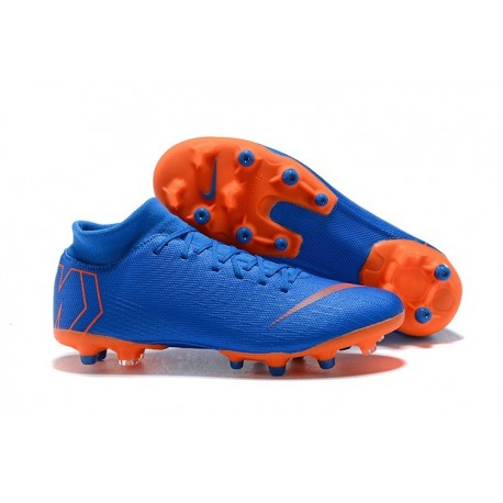 Nike Mercurial Superfly 6 Elite AG-Pro Soccer Cleats Blue Orange