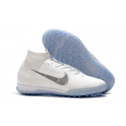 Nike Mercurial Superfly VI Elite TF Football Boot - White Gray
