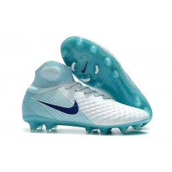 Nike Magista Obra II FG Men Soccer Boots White Blue Black