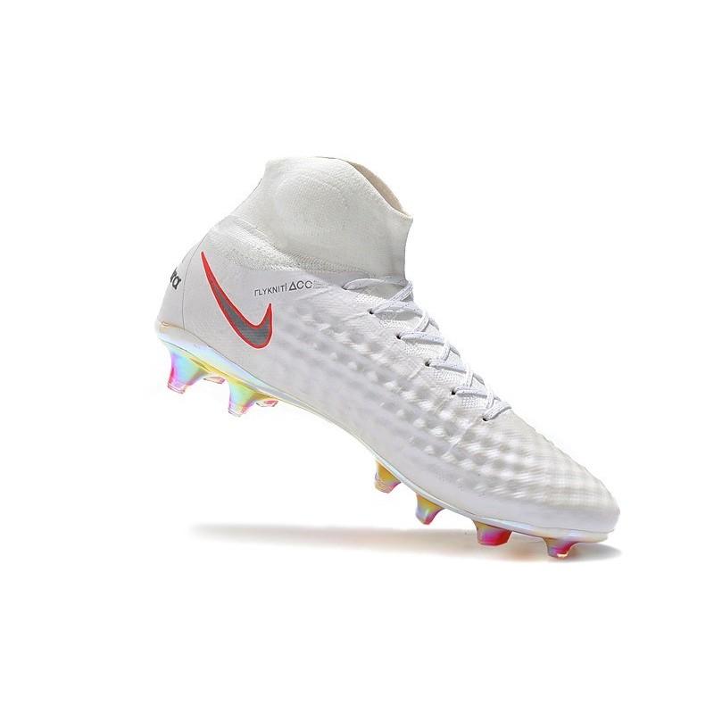 1efabe15de96 Nike Magista Obra II FG Men Soccer Boots White Grey Red Maximize. Previous.  Next